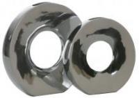 Aluminium Vase rund